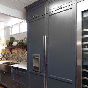 Integrated Refrigerators that Look like Cabinets - Fridge Dimensions