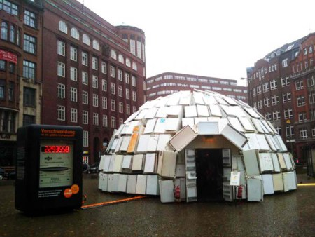 What To Do With 322 Second Hand Refrigerators Build An Igloo