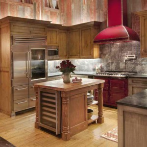 Country Kitchen Decor with Built In Sub Zero Pro 48