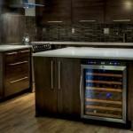 Wine Refrigerator Built Into Kitchen Island